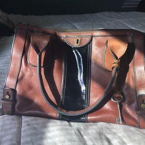 Brown Fossil shoulder bag